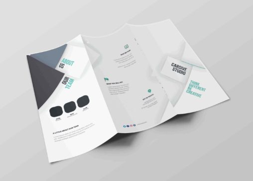 Free Download Tri-Fold Premium Brochure with PSD