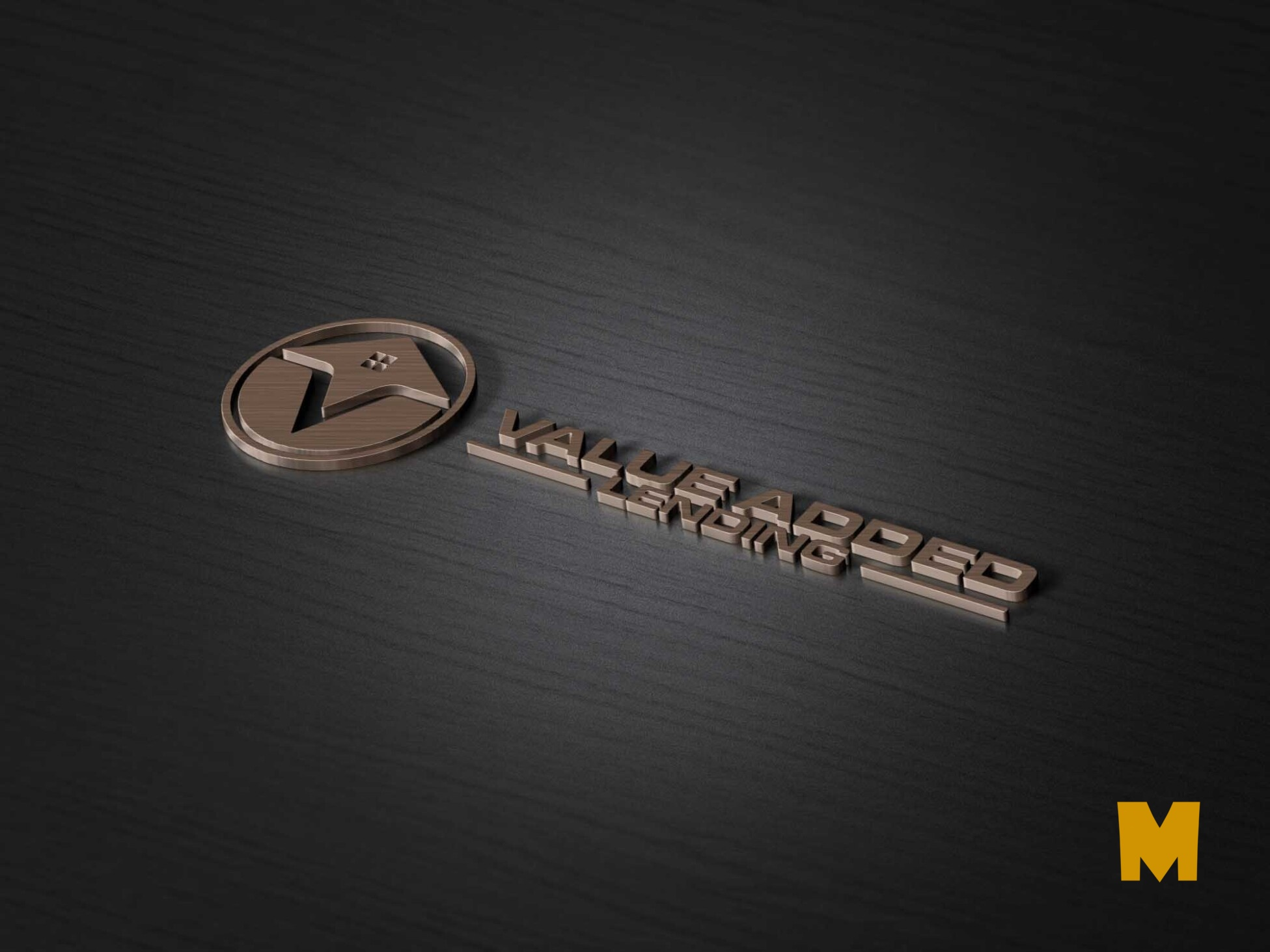 Awesome 3D copper logo mockup