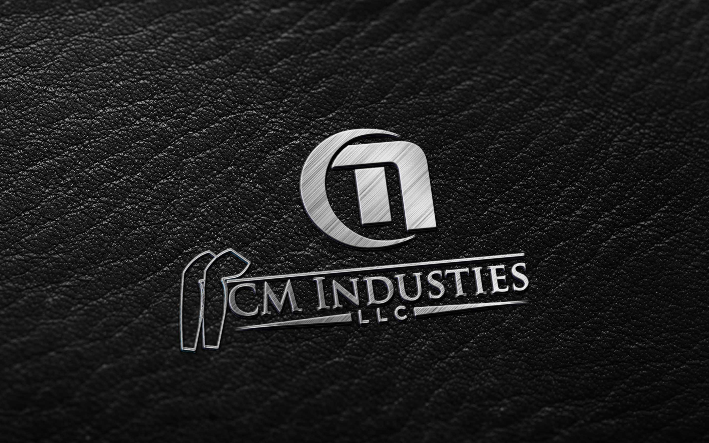 best Dark Leather - Metallic Finish logo mockup