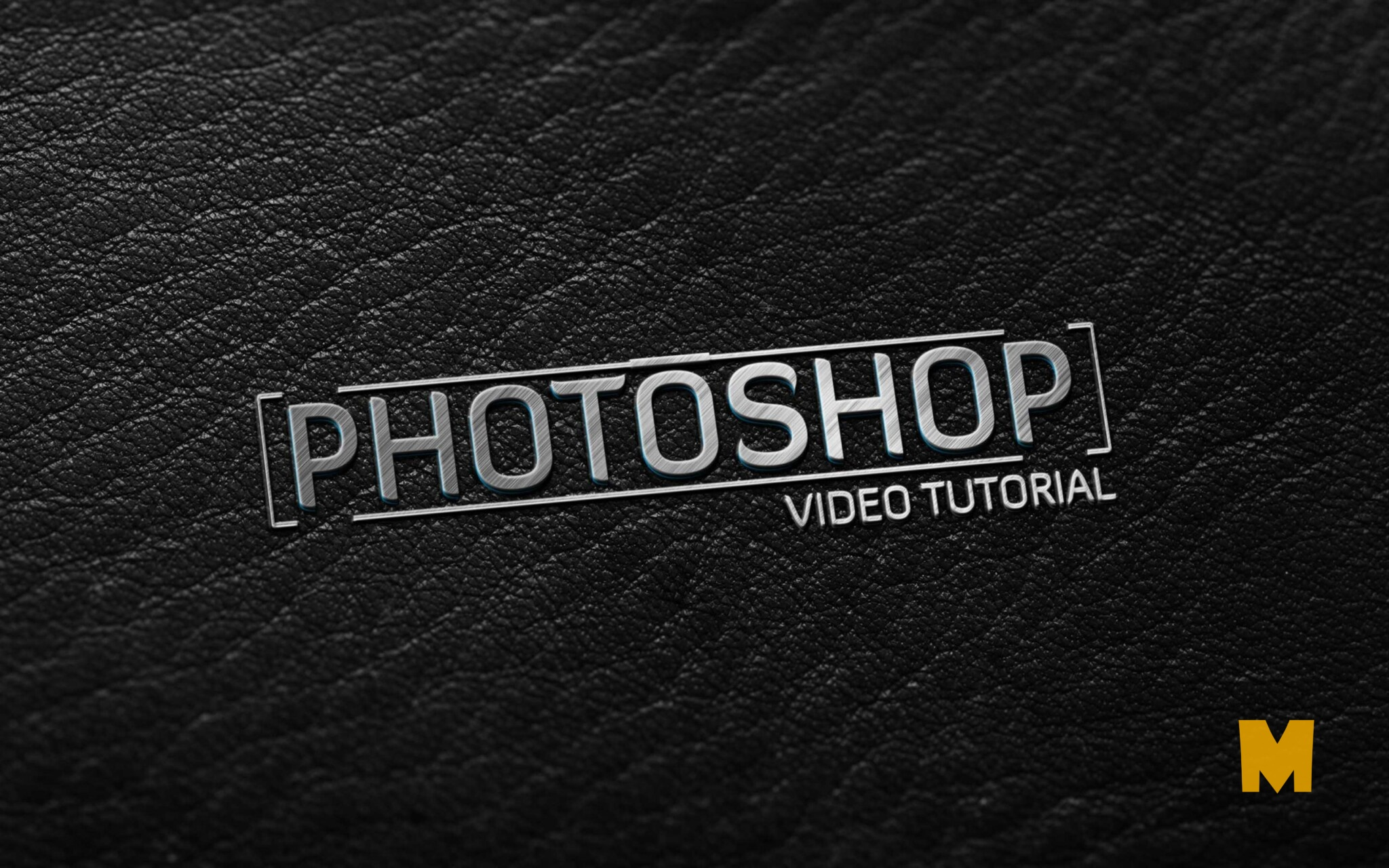 Awsome Dark Leather - Metallic Finish logo mockup