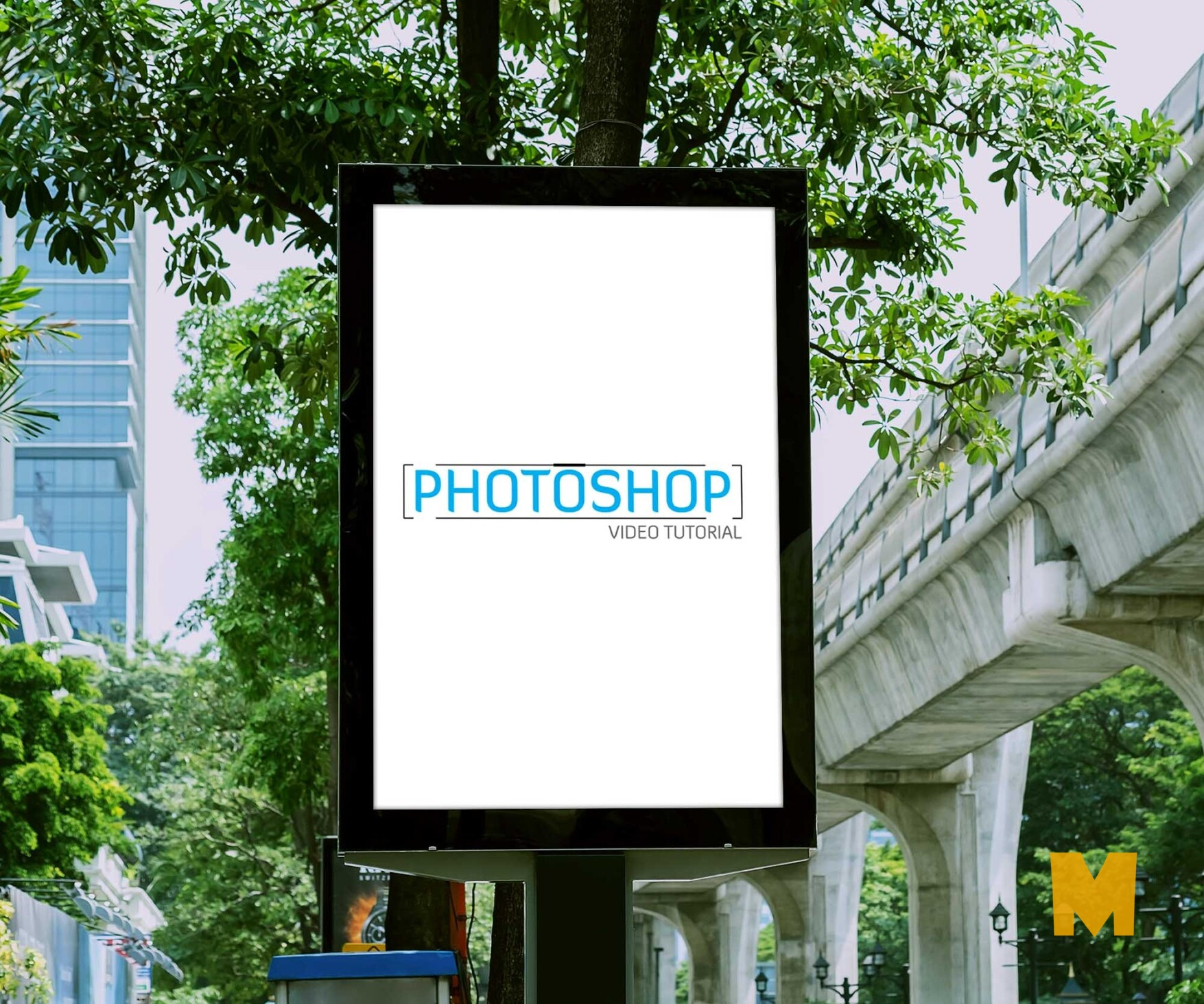Road Side Poster Mockup For Advertisement