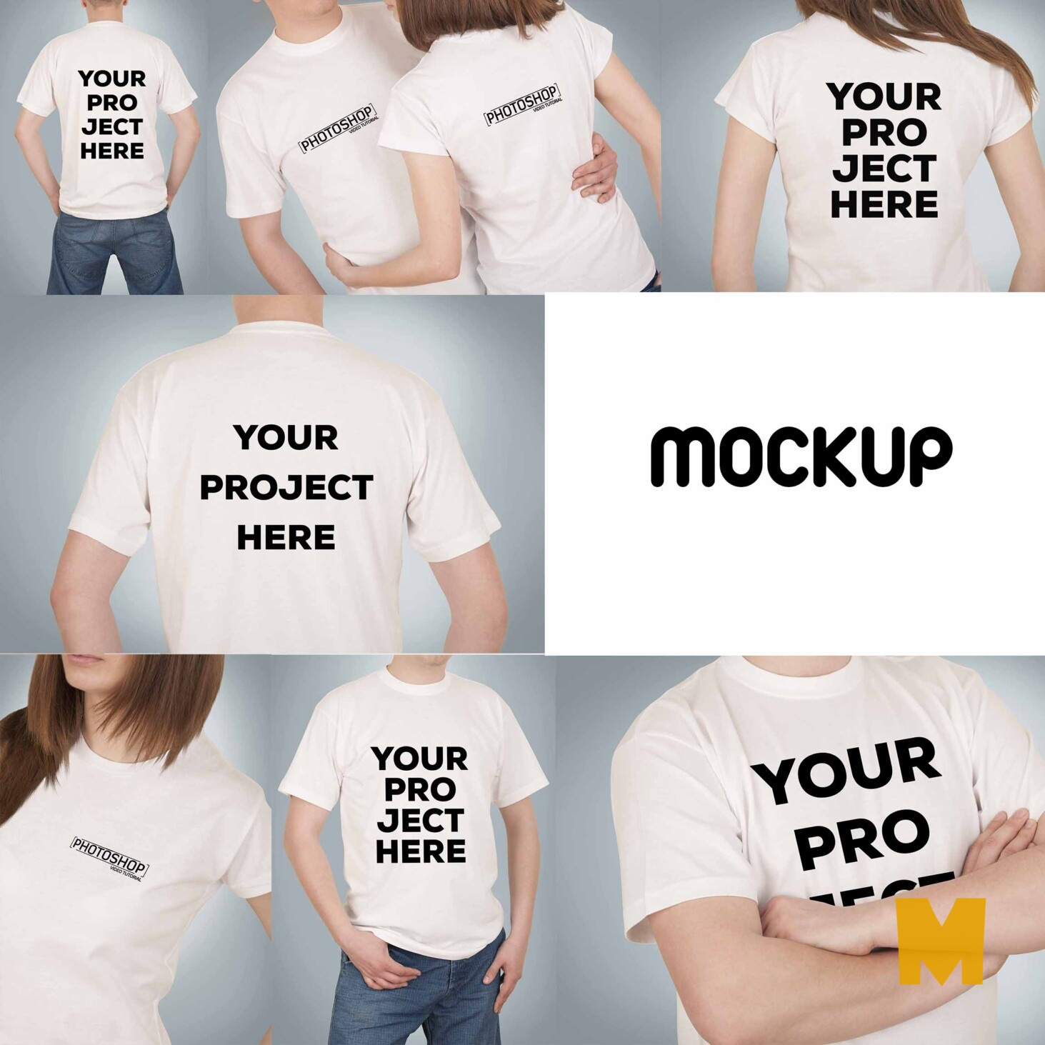 t shirt mockup front and back psd