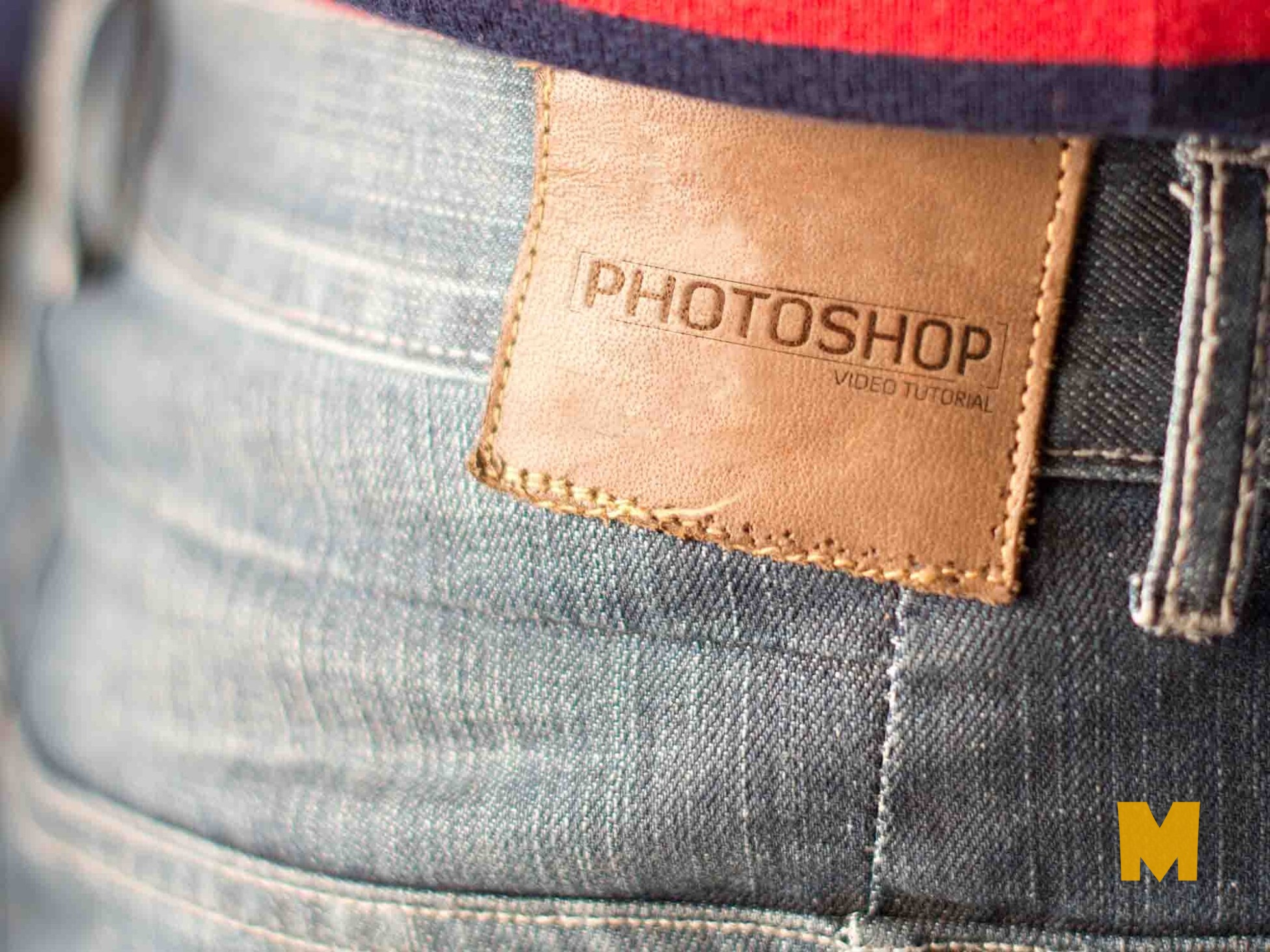 Jeans-leather-logo-mockup