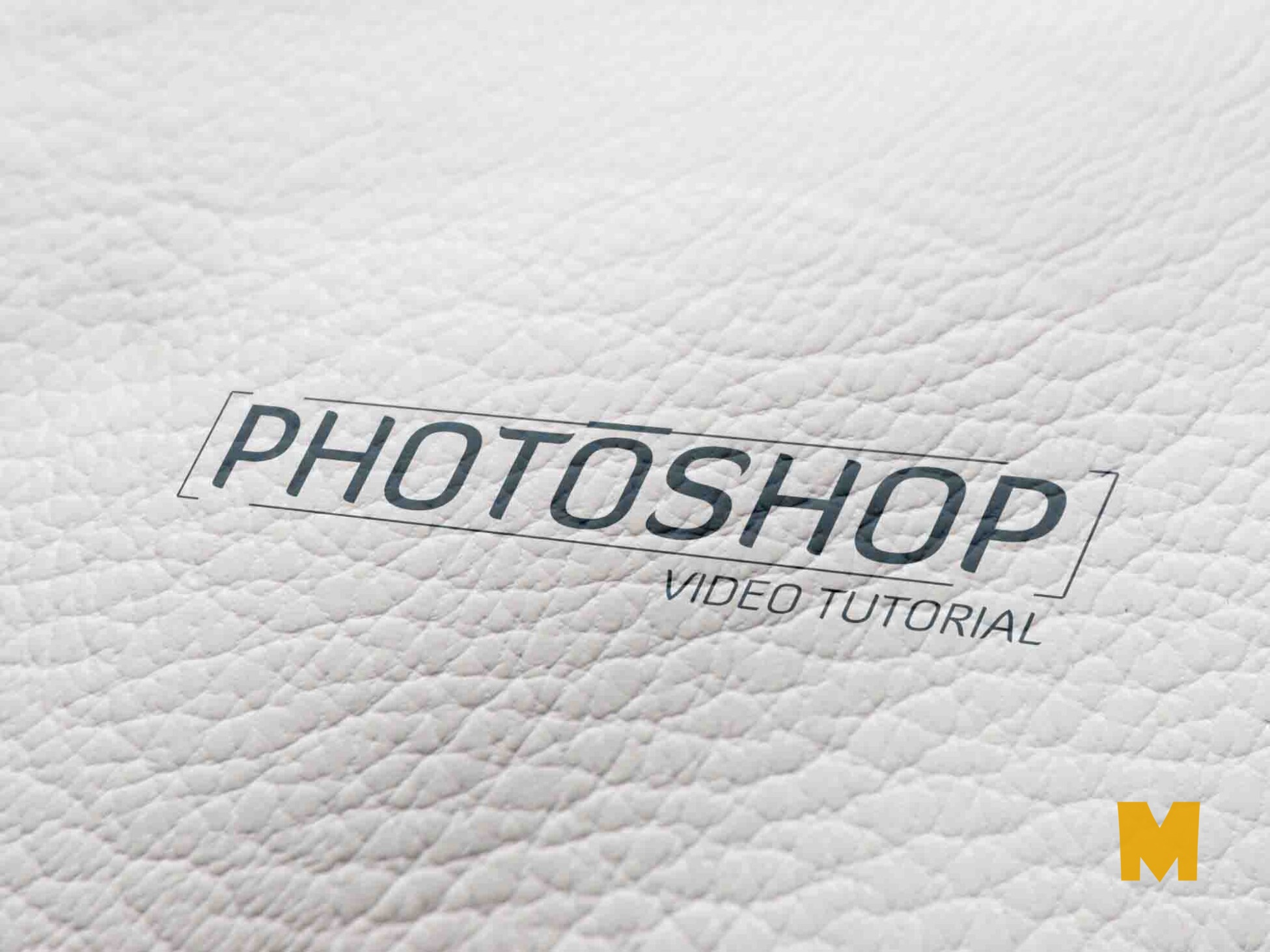 3d signage-leather-logo-mockup