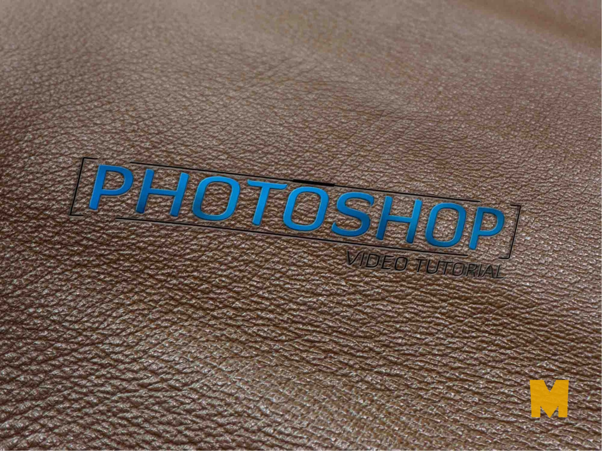 3d Free-leather-logo-mockup