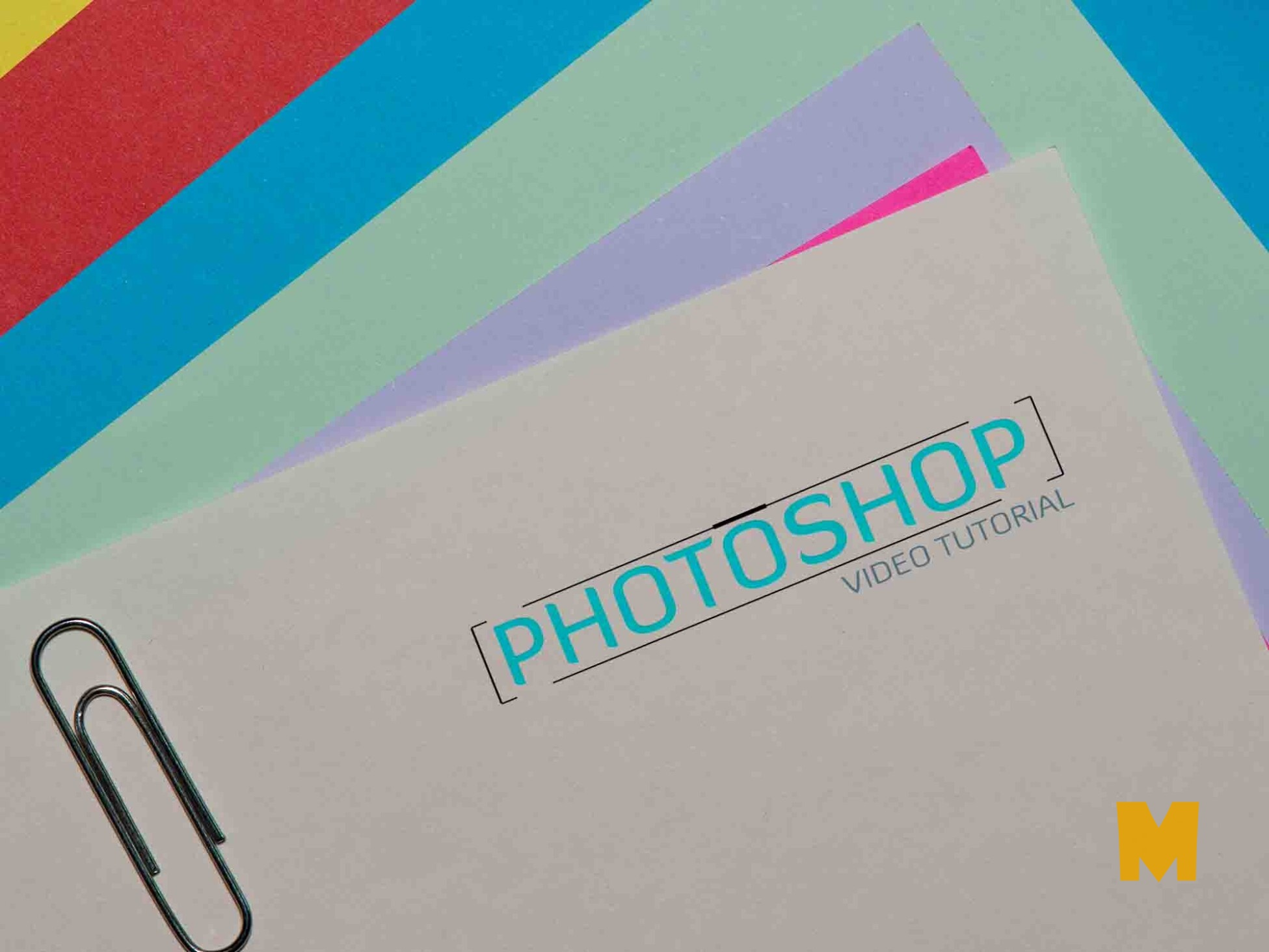 colour paper-logo-mockup
