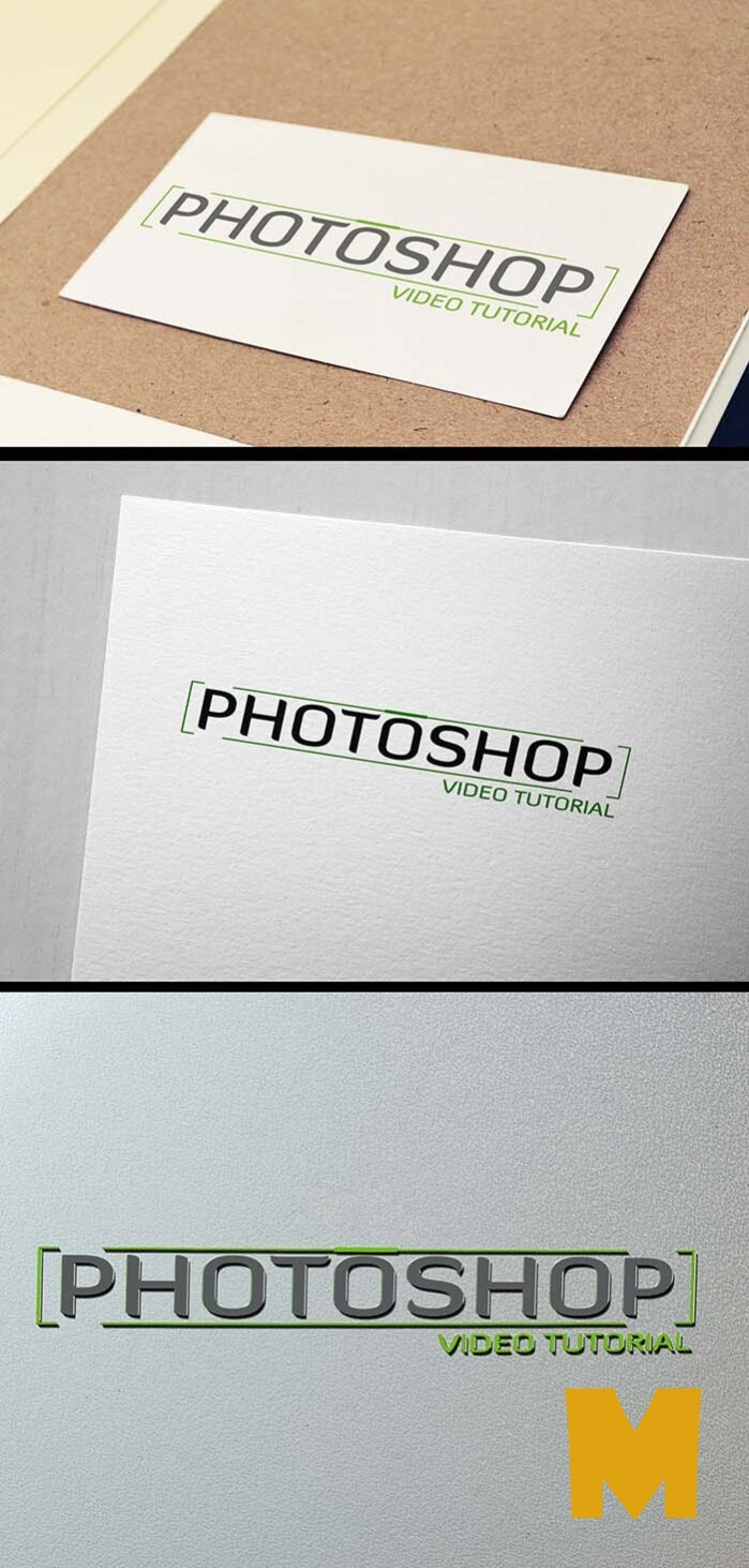 Logo Mockup Latest 3D