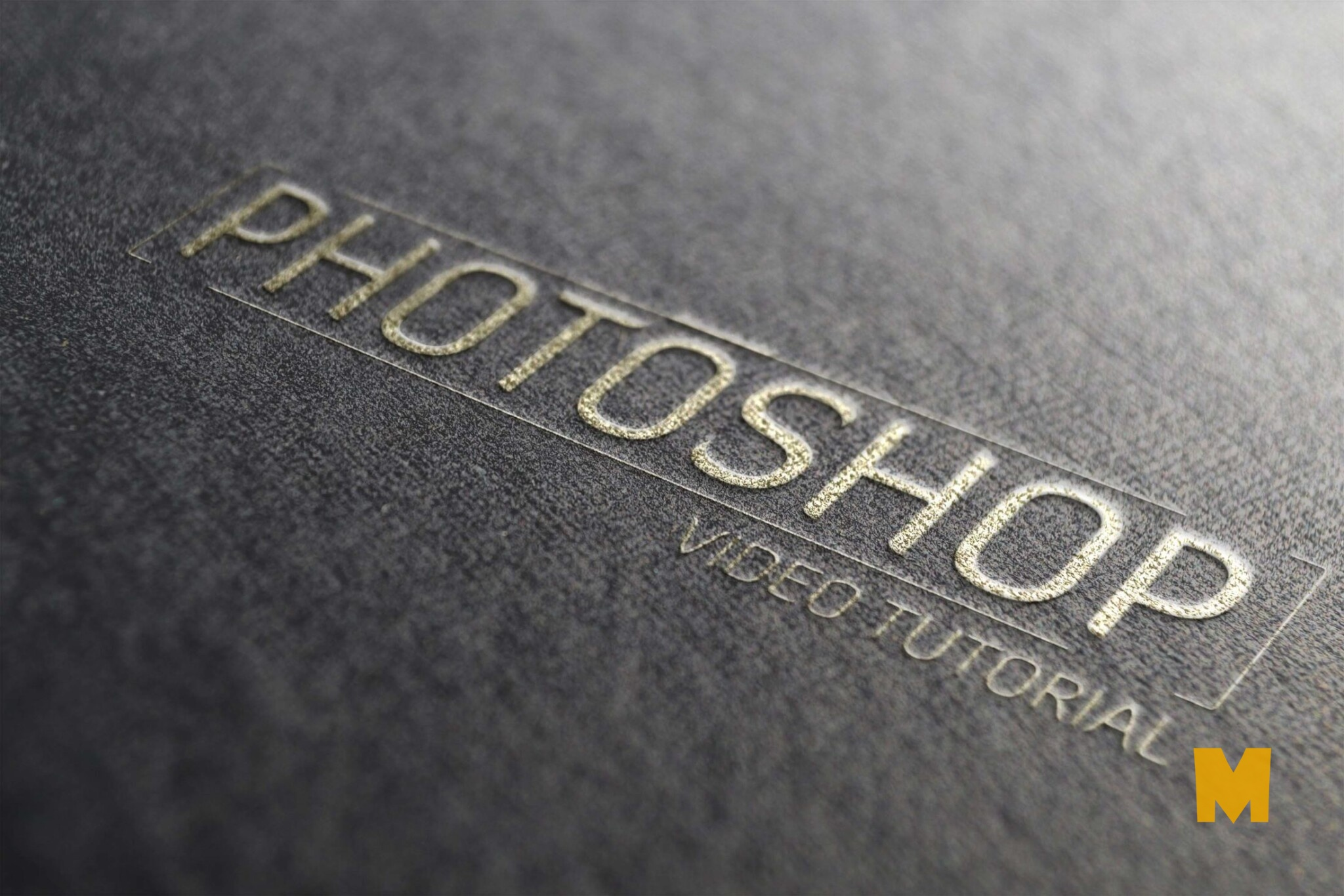 Black Background Gold Logo Mockup PSD