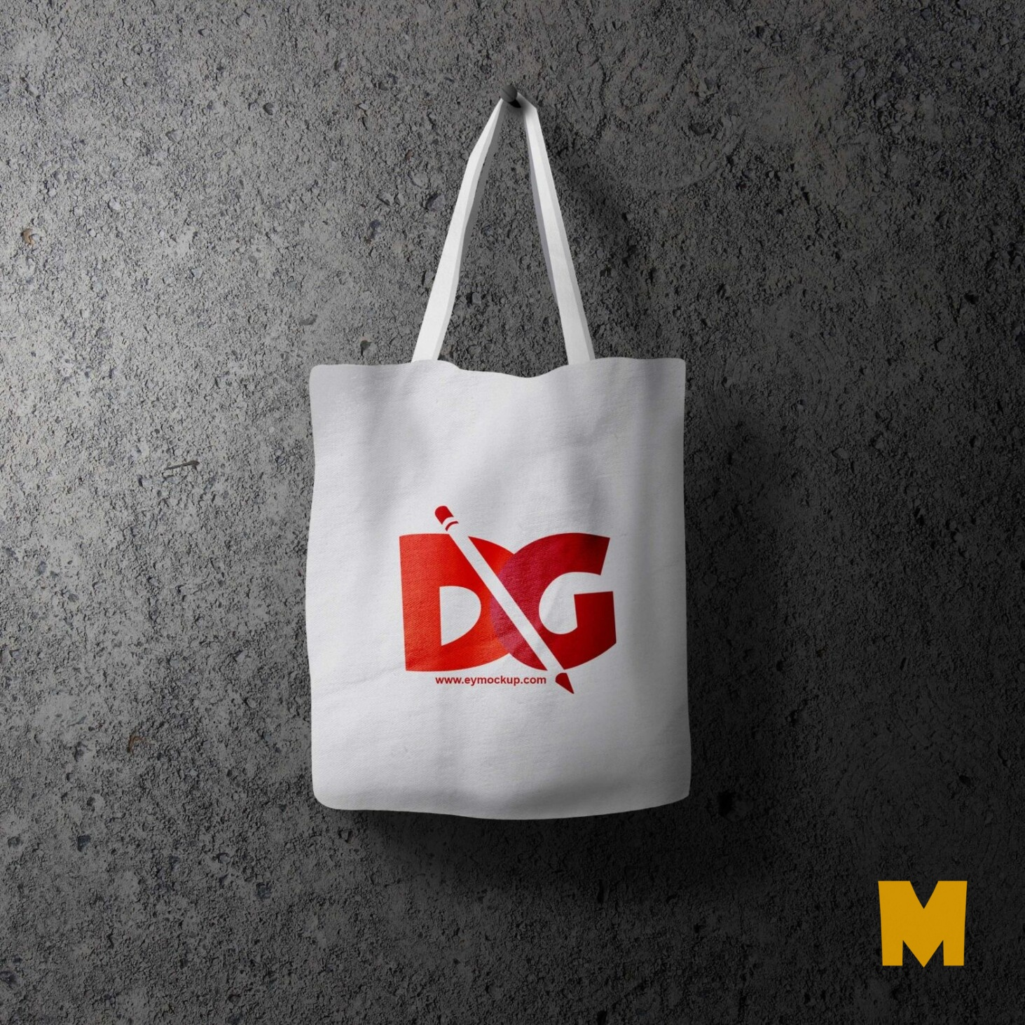 Free PSD Cotton Bag Mockup