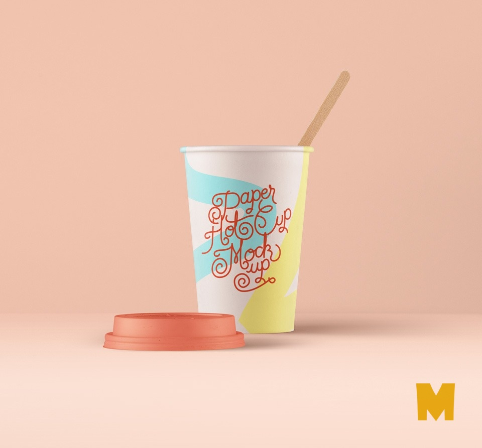FRee PSD Paper-Hot-Cup-Mockup