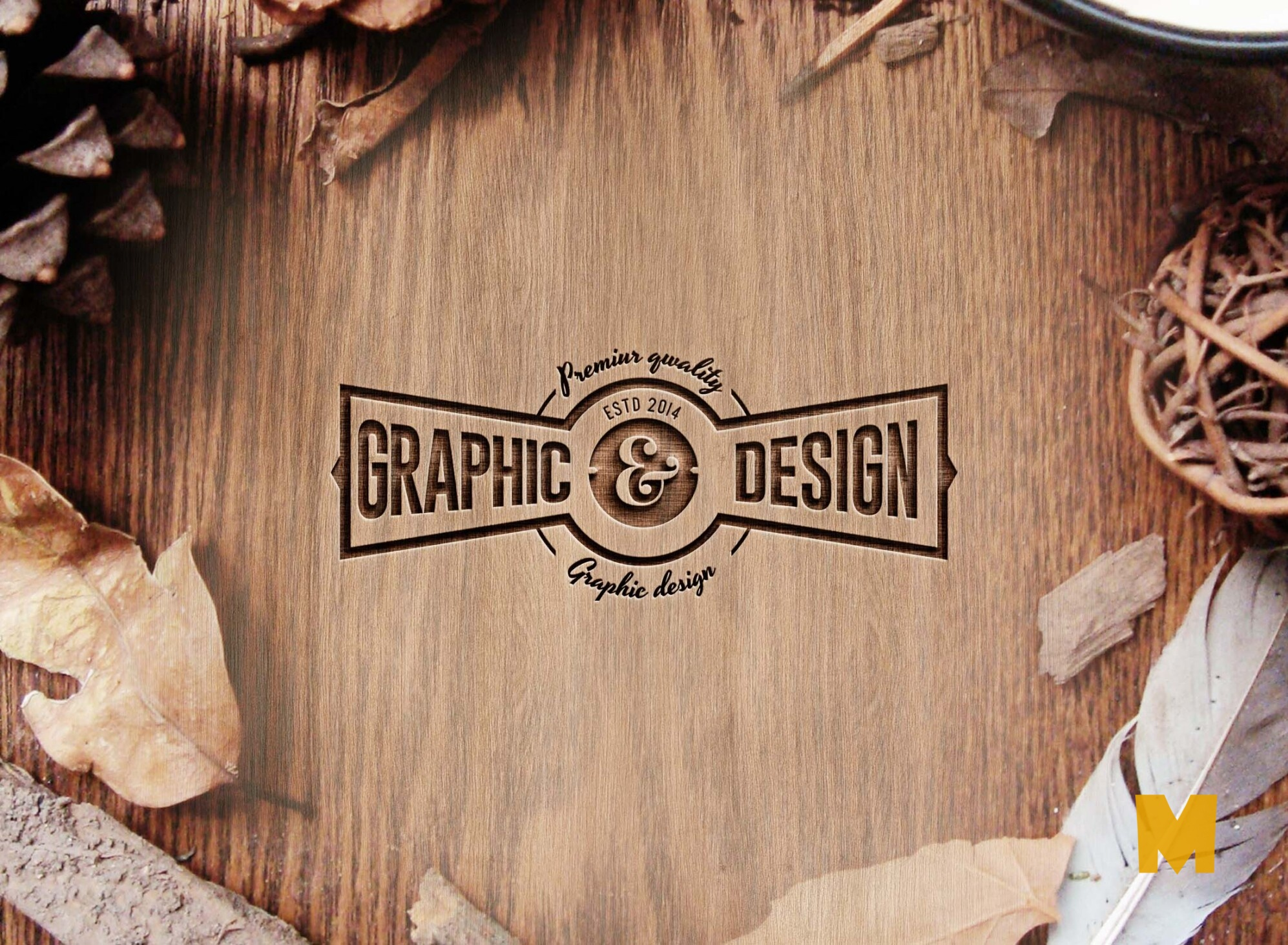 awesome 3D Multipurpose Logo Mockup
