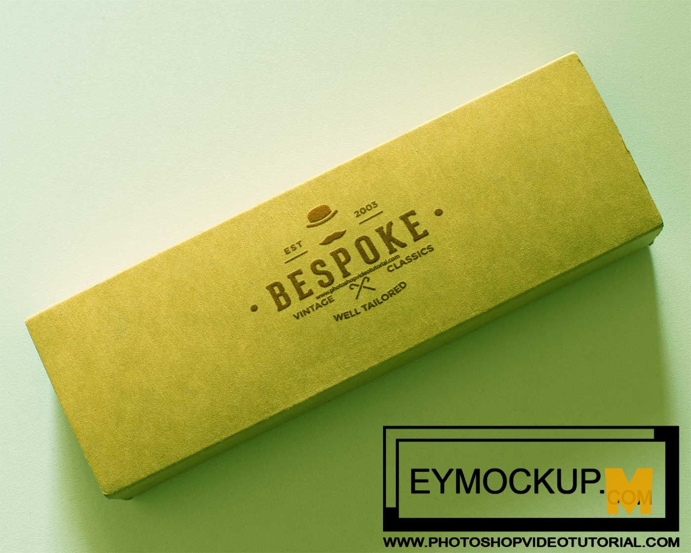 Free Realistic Pencil Box Logo Mockups