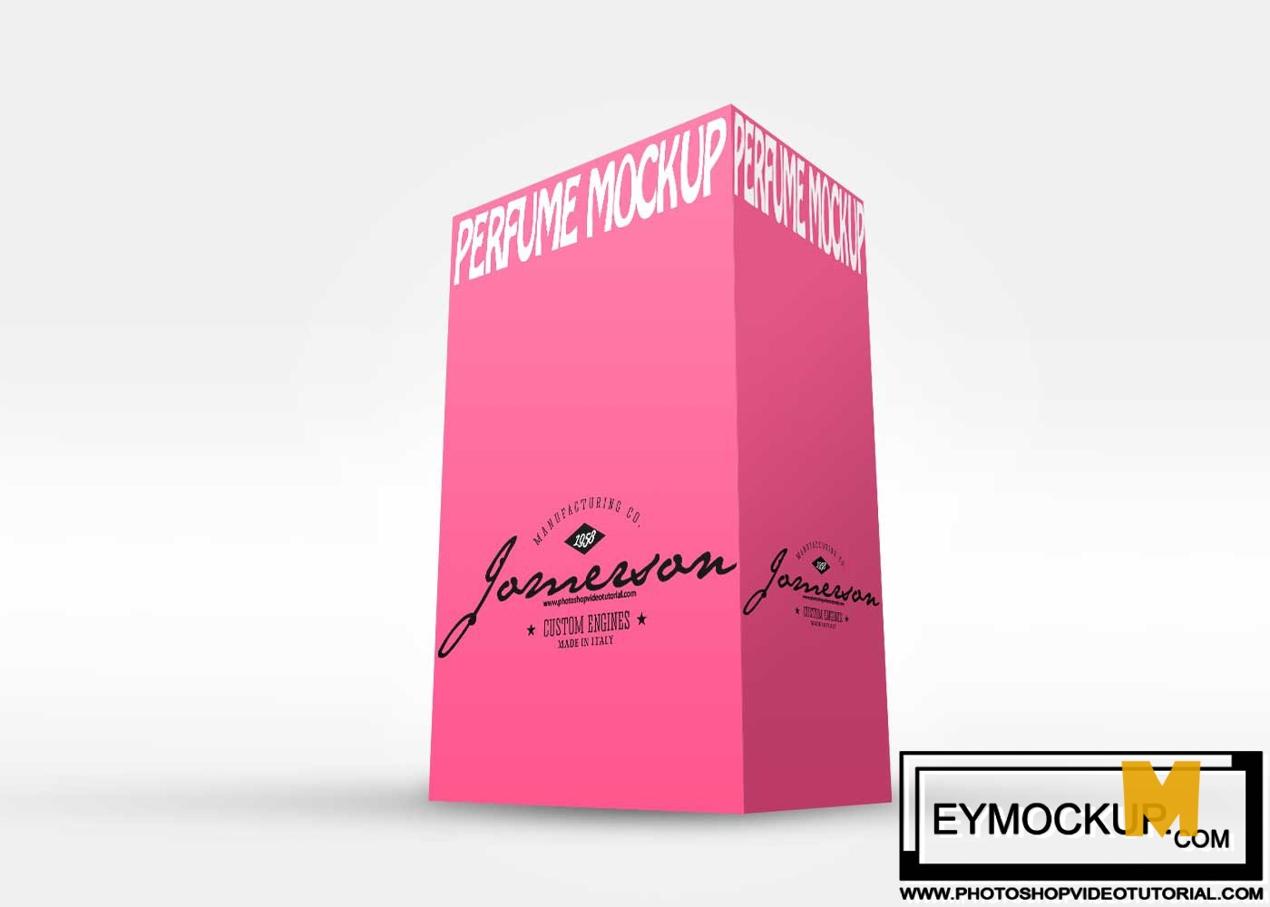 fragrance box mockup