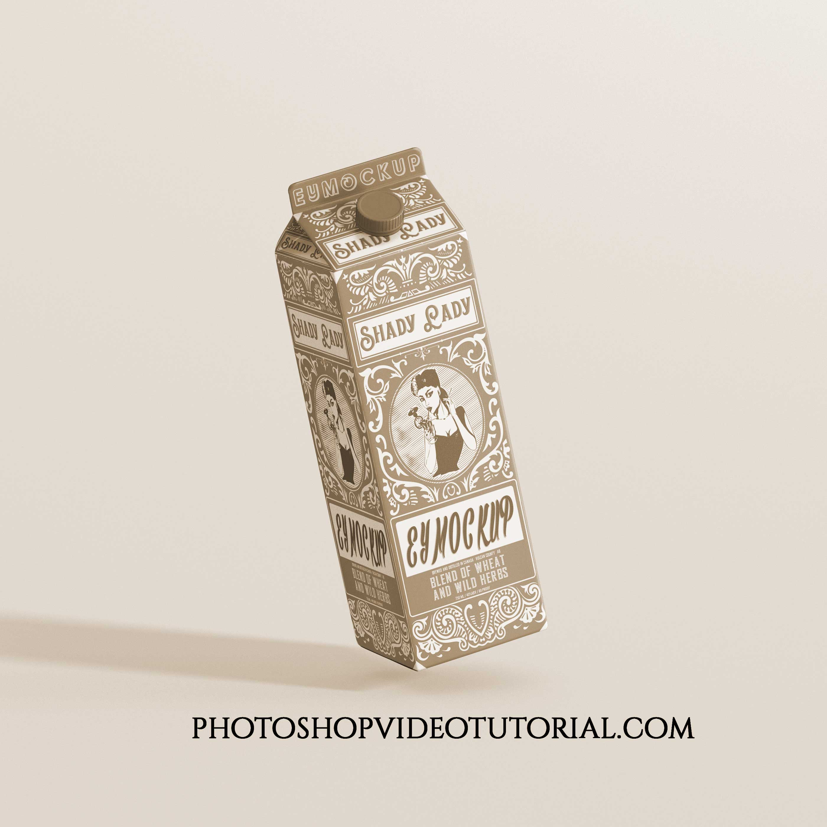 Mockups Milk Package