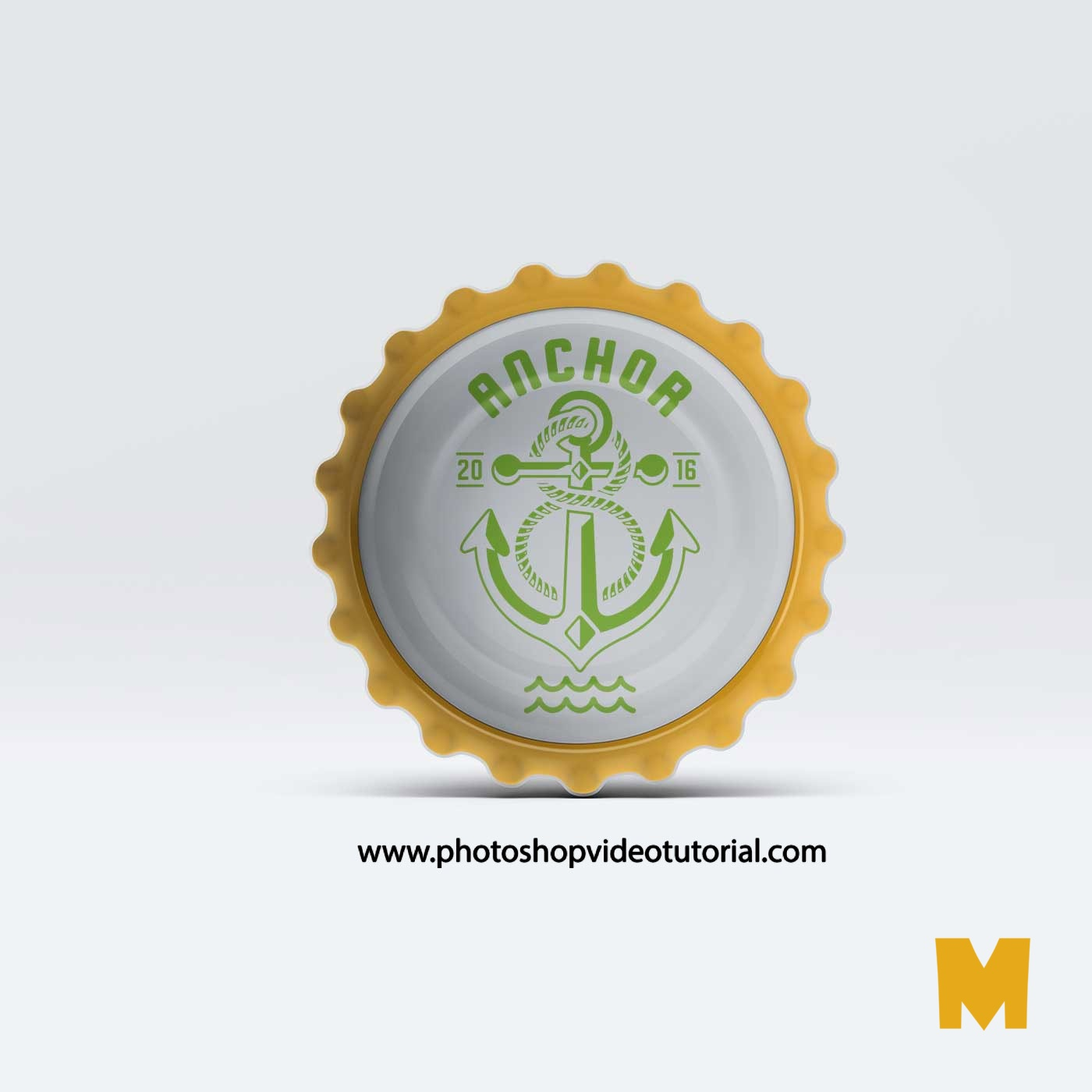 Bottle Cap PSD Mockup