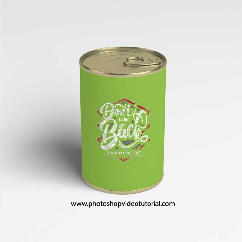 free Can Label Mockups