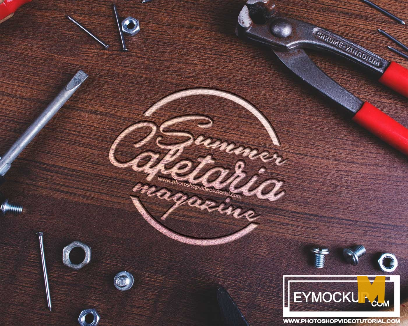 Engrave Wood Tools Mockup