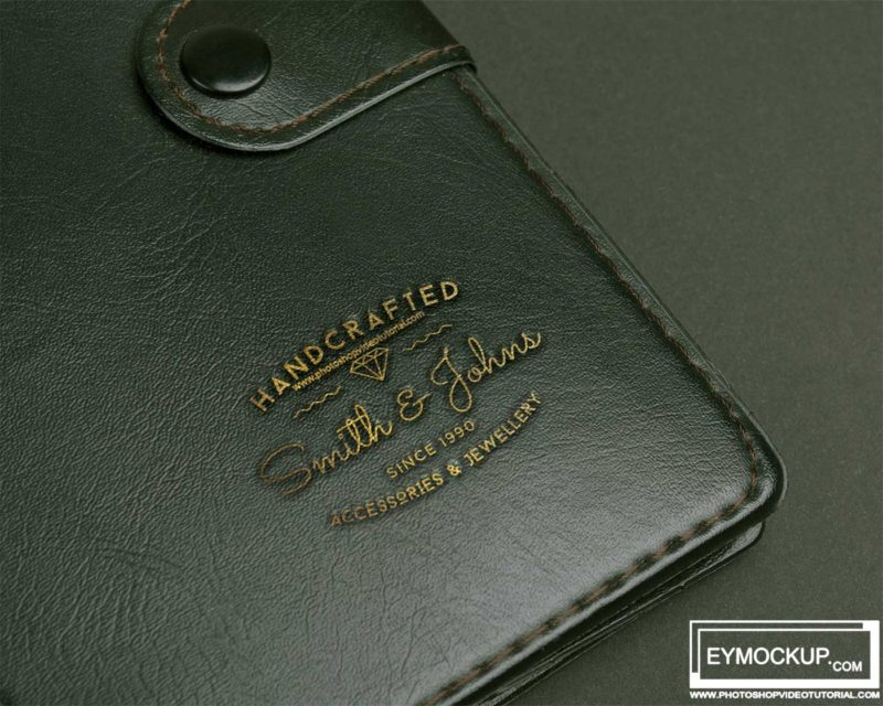 Leather psd Mockup