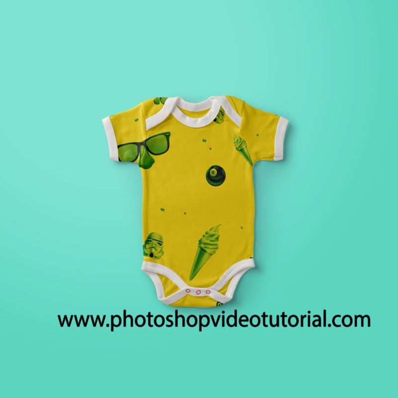 baby suit mockup psd free