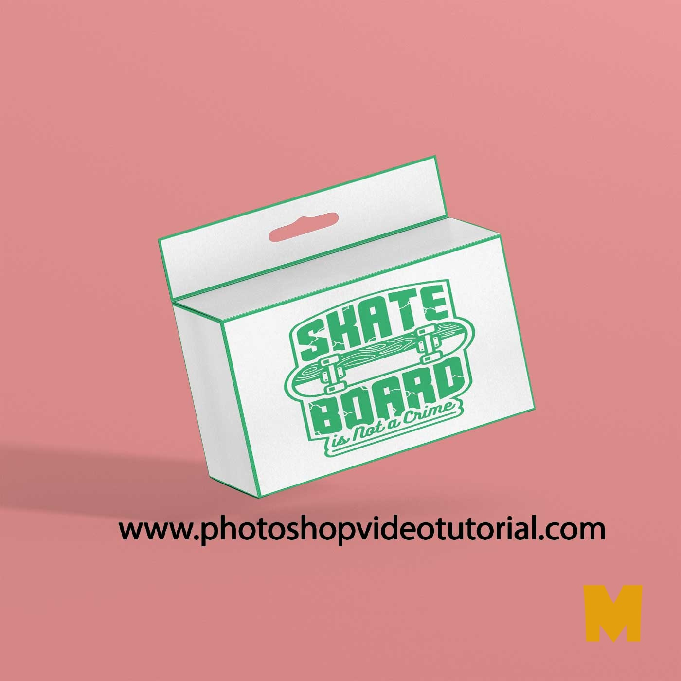 Mockup Slim Rectangular Box