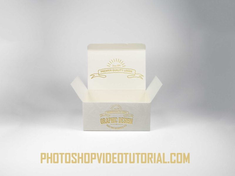 Gold Box Label Mockup