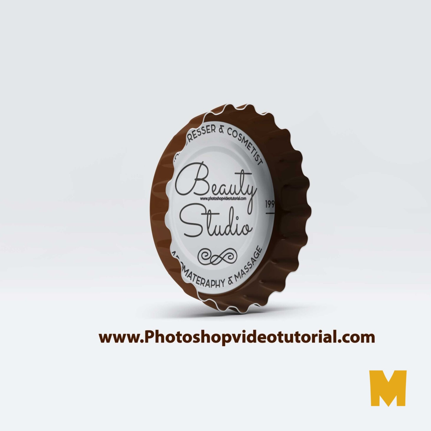 PSD Bottle Cap Mockup