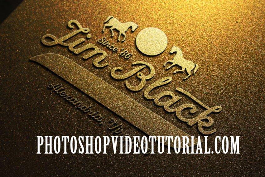 Light Gold Mockup