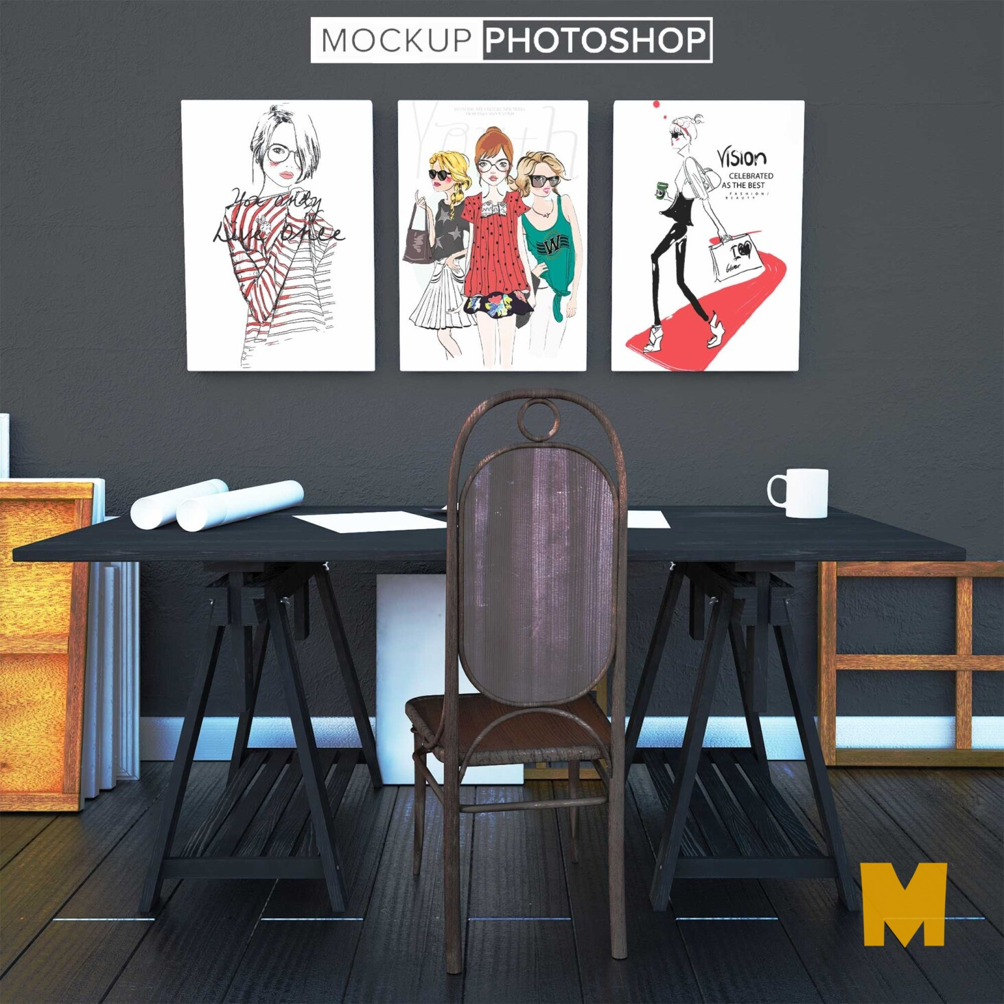 Wall Paintings Mockup