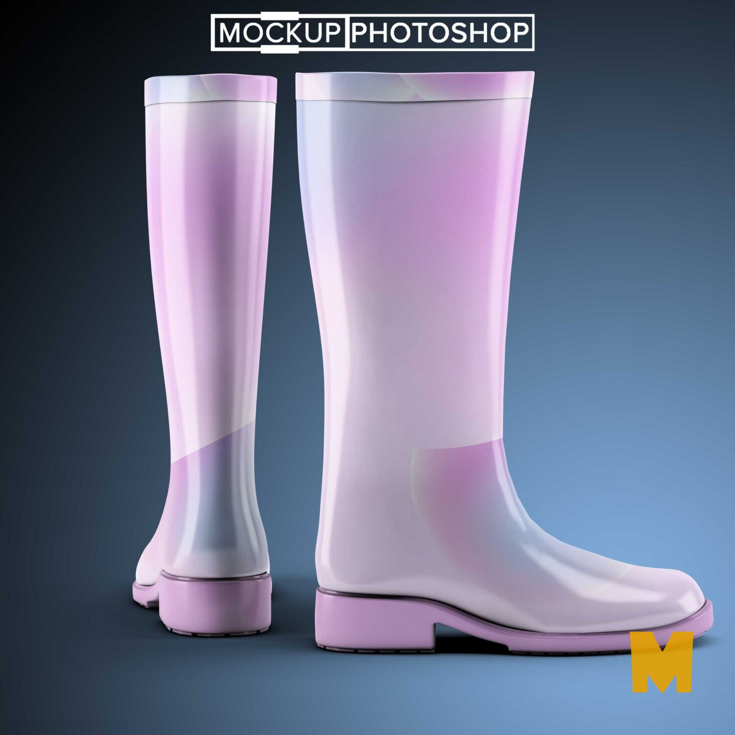 Colourful Boots Mockup