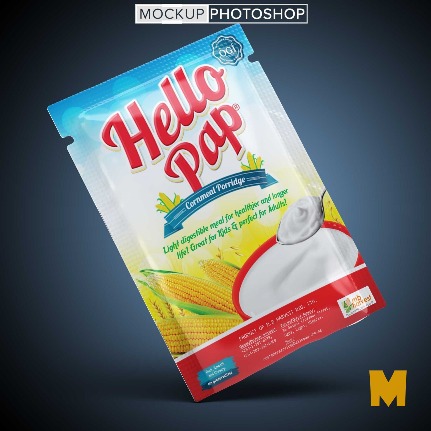 Packaging psd Mockup