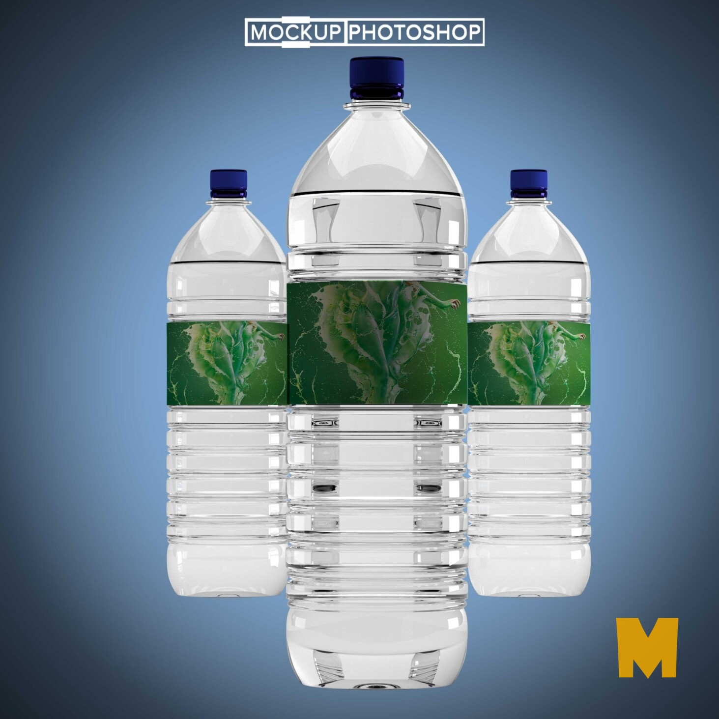 Premium Water Bottle Mockup