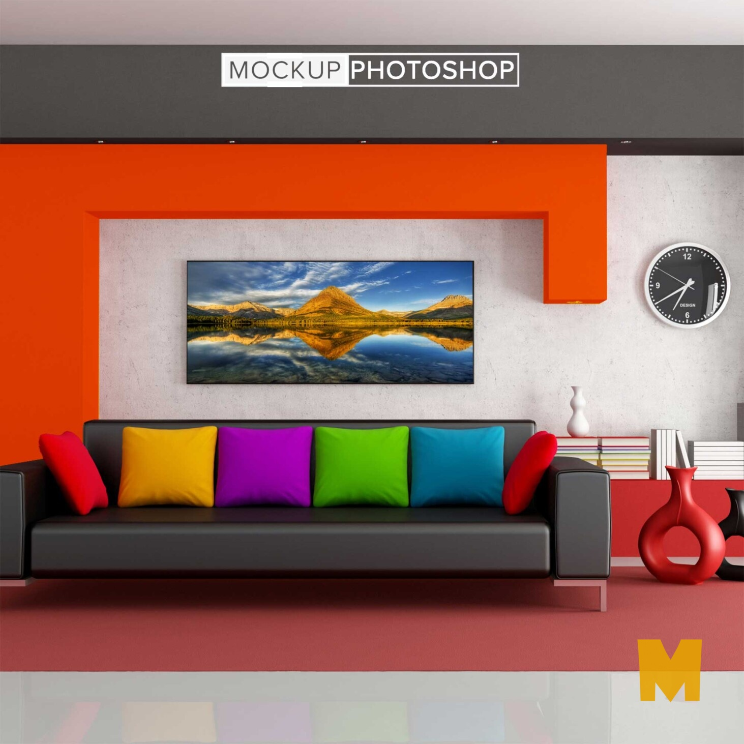 Room Wall Frame Mockup