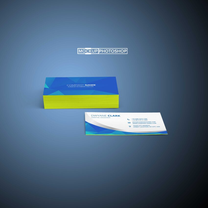 10 Business Cards Mockup