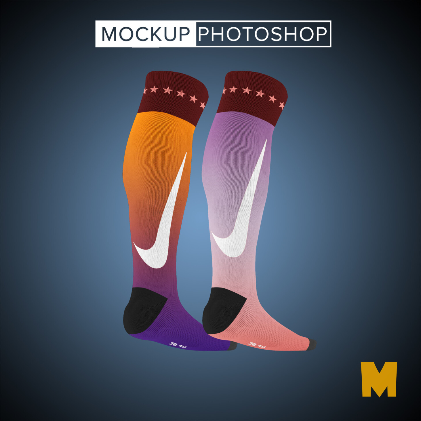 Socks Knee Design Mockups