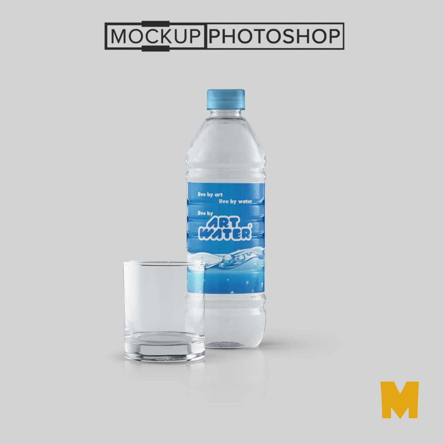 Water Bottle Label Mockups