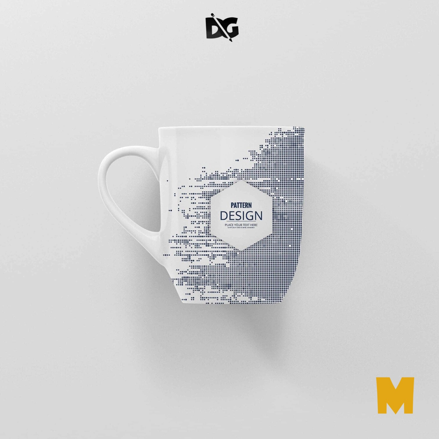 Sublimation Mug Label Mockup