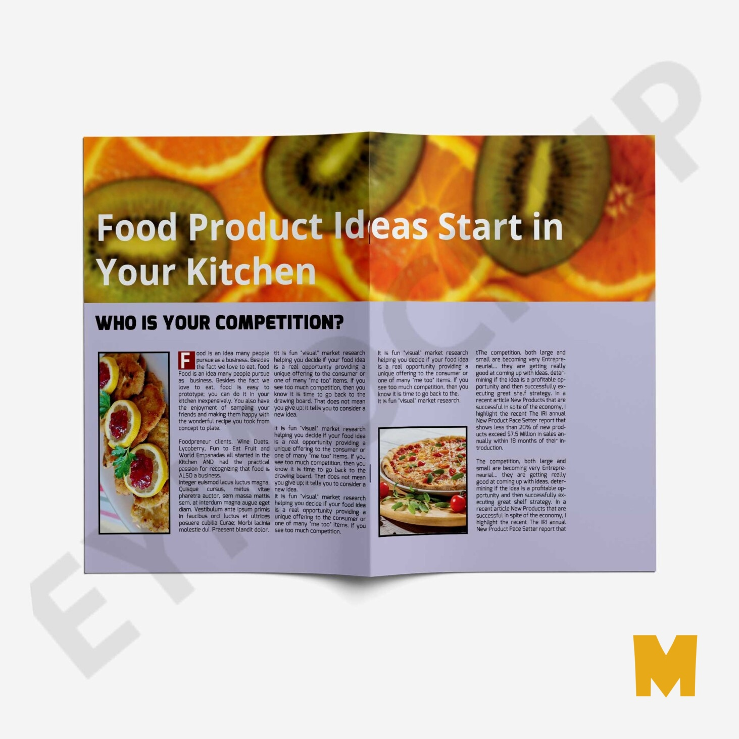 Cooking Bi-Fold Brochure