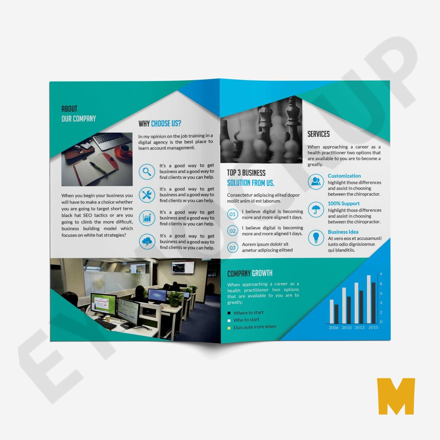 Clean Brochure PSD