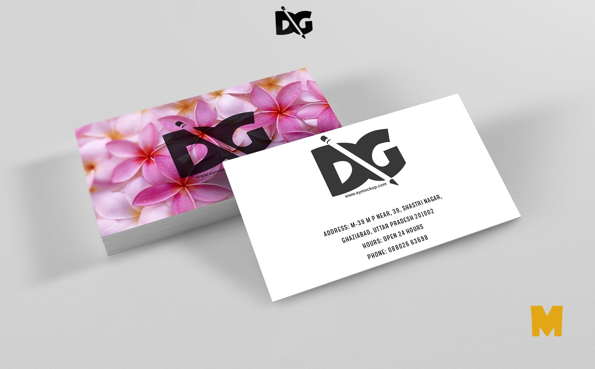 Beautiful Business Cards Mockup Presentation