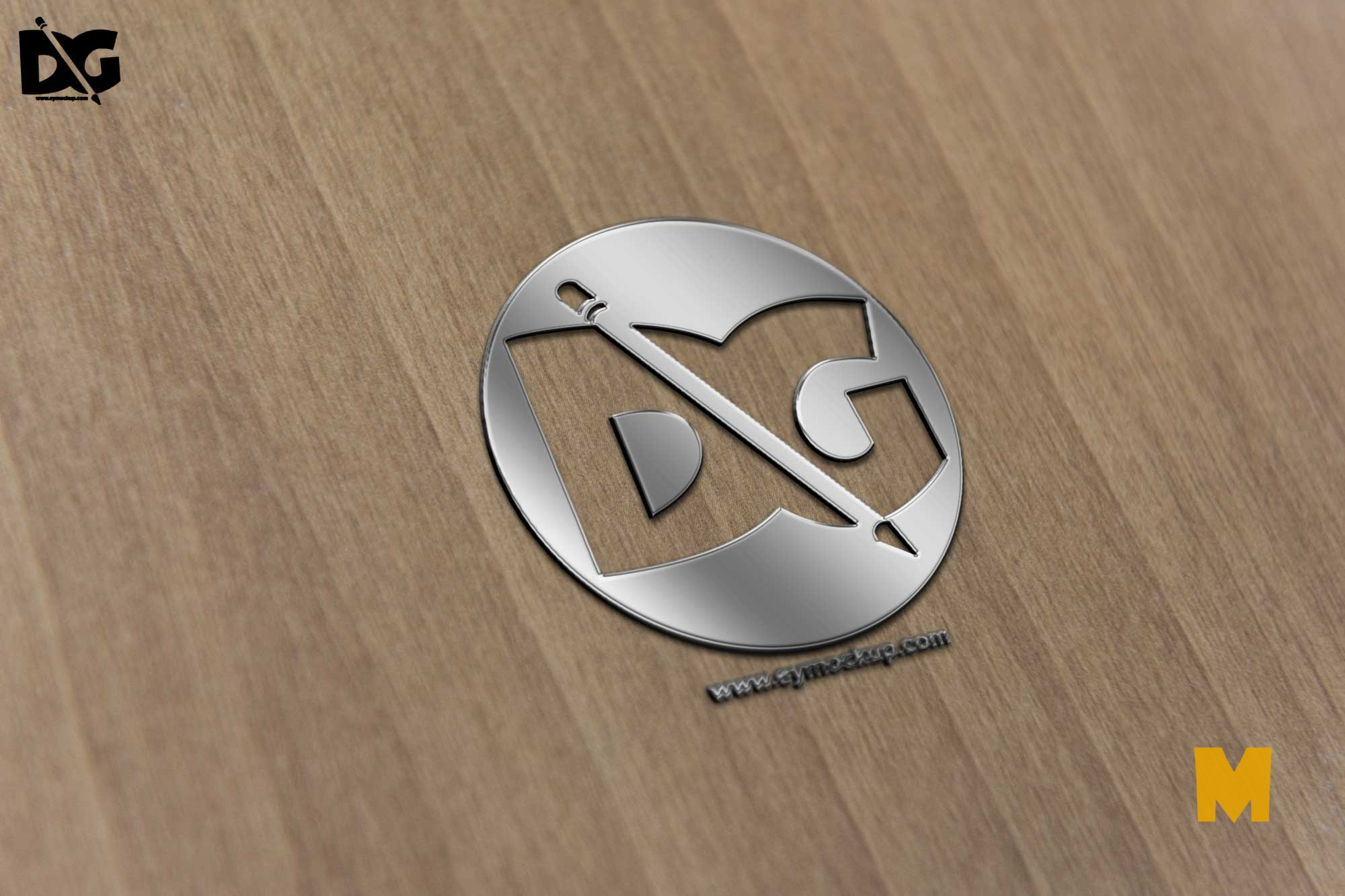 Chrome 3D Effect Logo