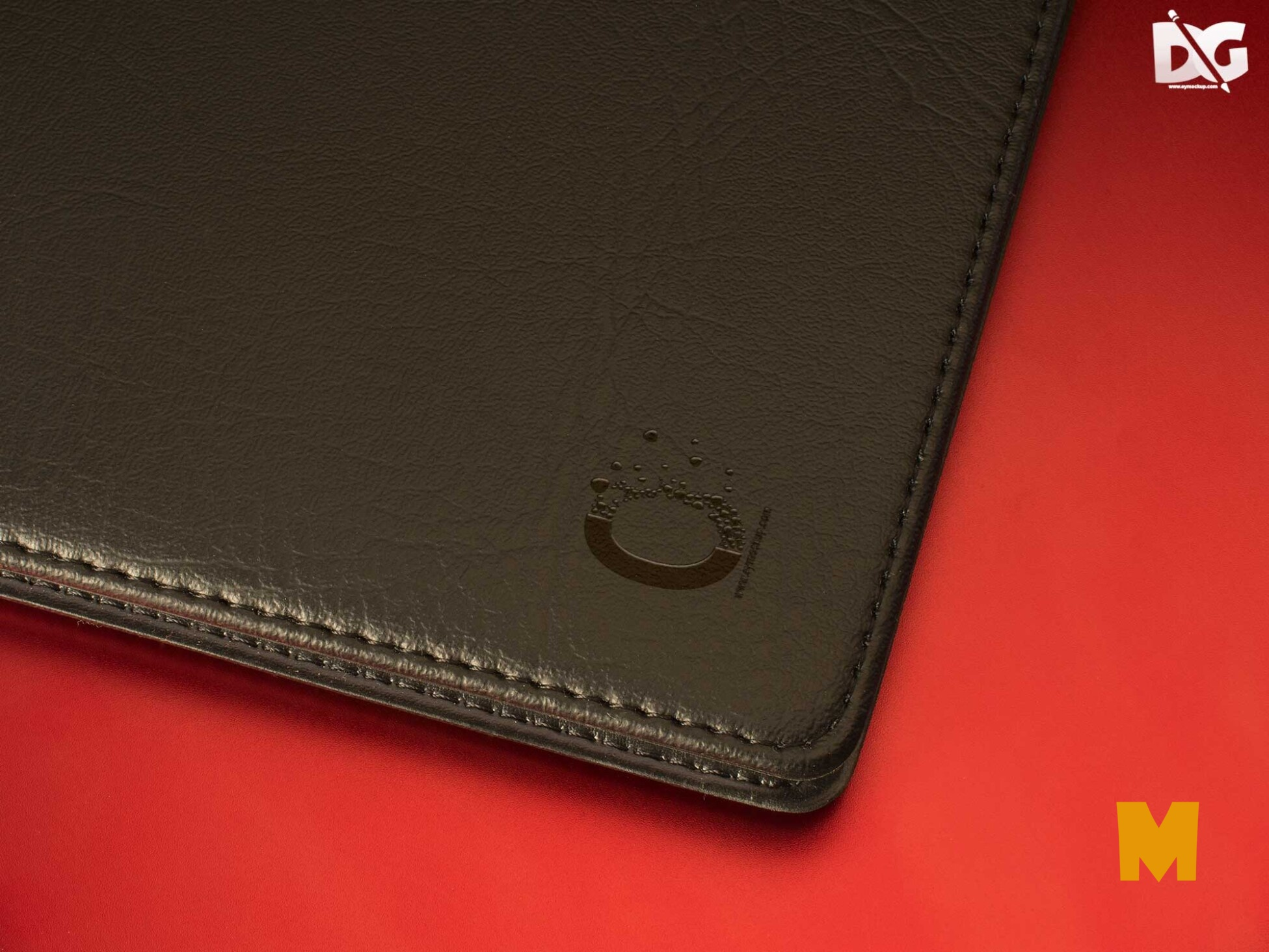 File Cover Leather Logo