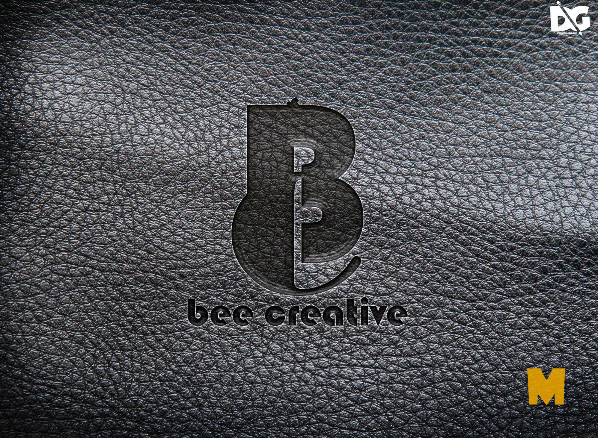 Free Download Realistic Black Leather Mock-up (1)