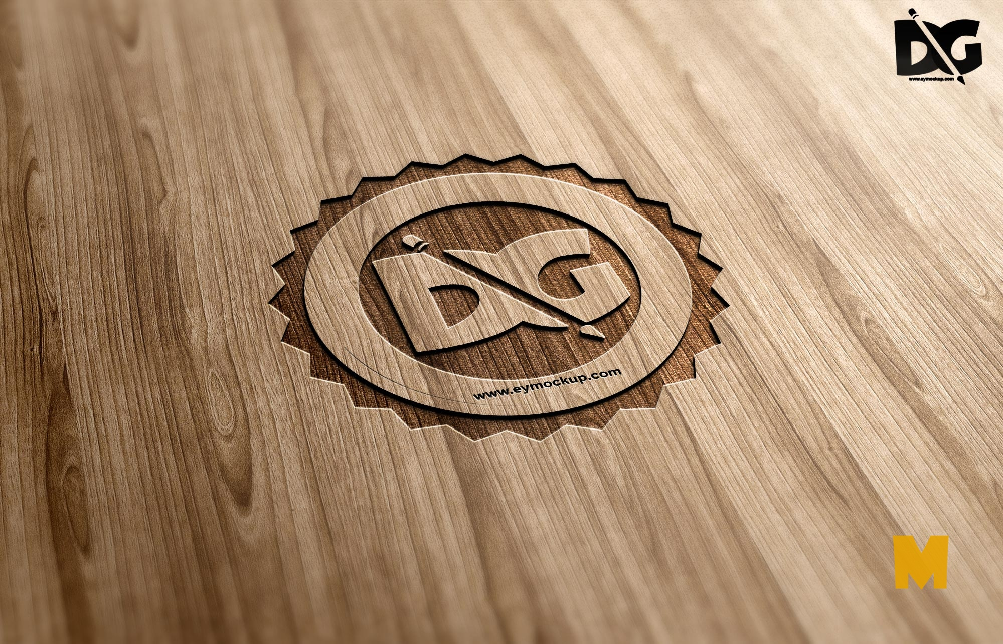 Cutline Wood PSD Mock-up