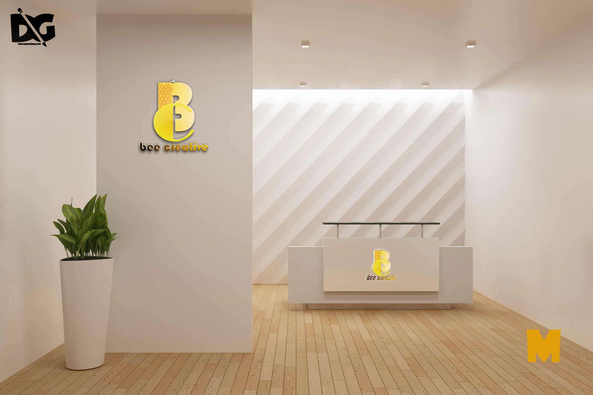 Reception Area Mockup