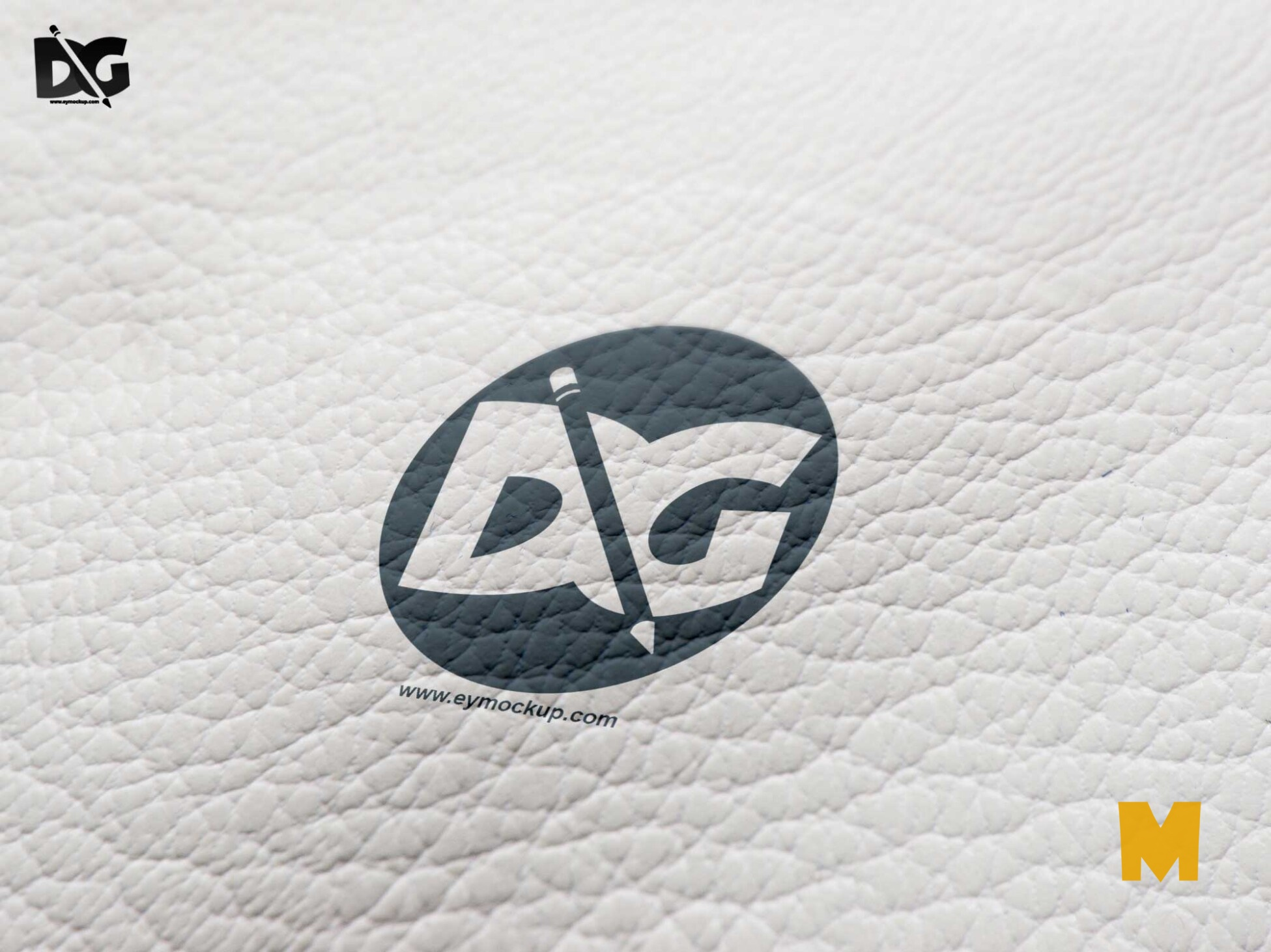Cover Leather Logo Mockup