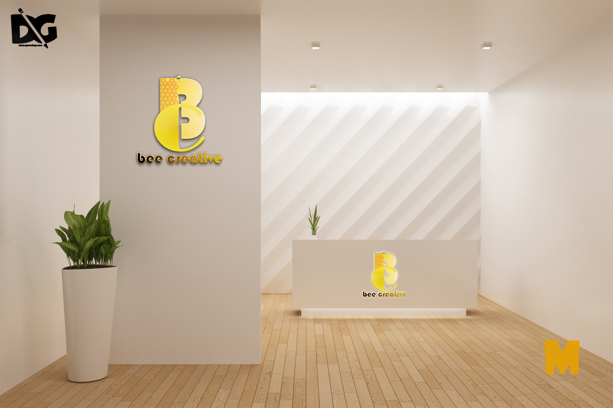 Reception Logo Mockup