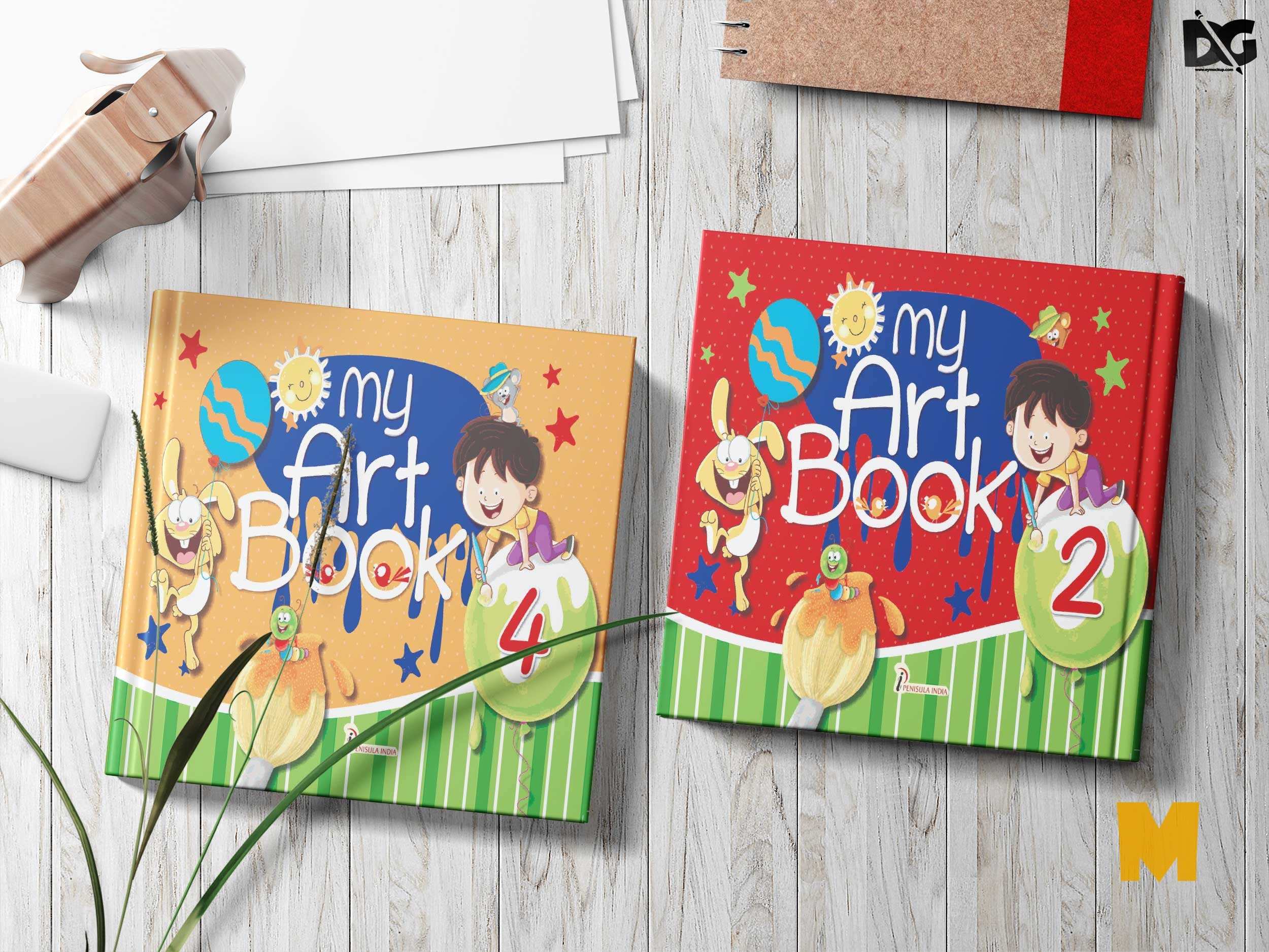 Free Baby Book Cover Mockup