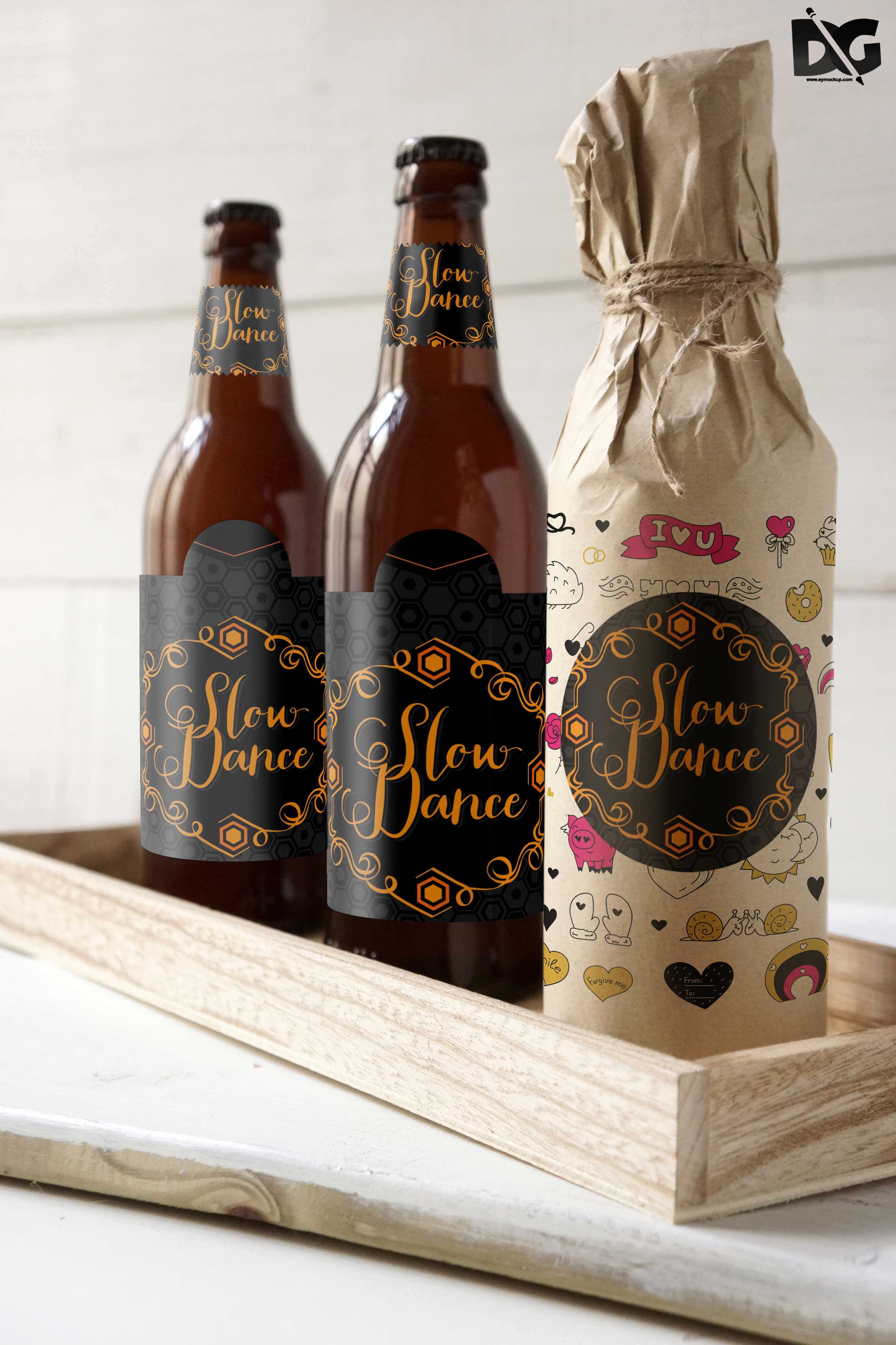 Multiple Bottle Mockups