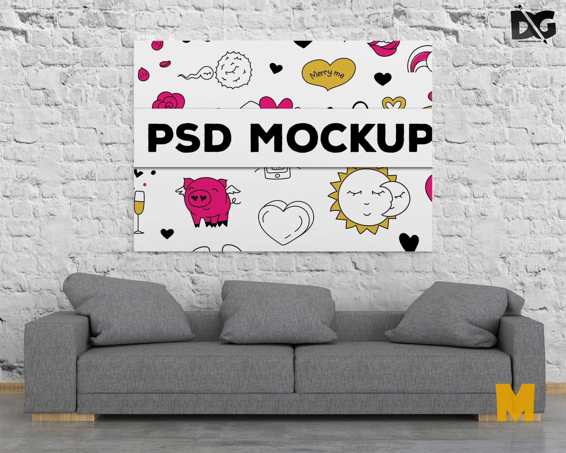 Poster Painting Mockup