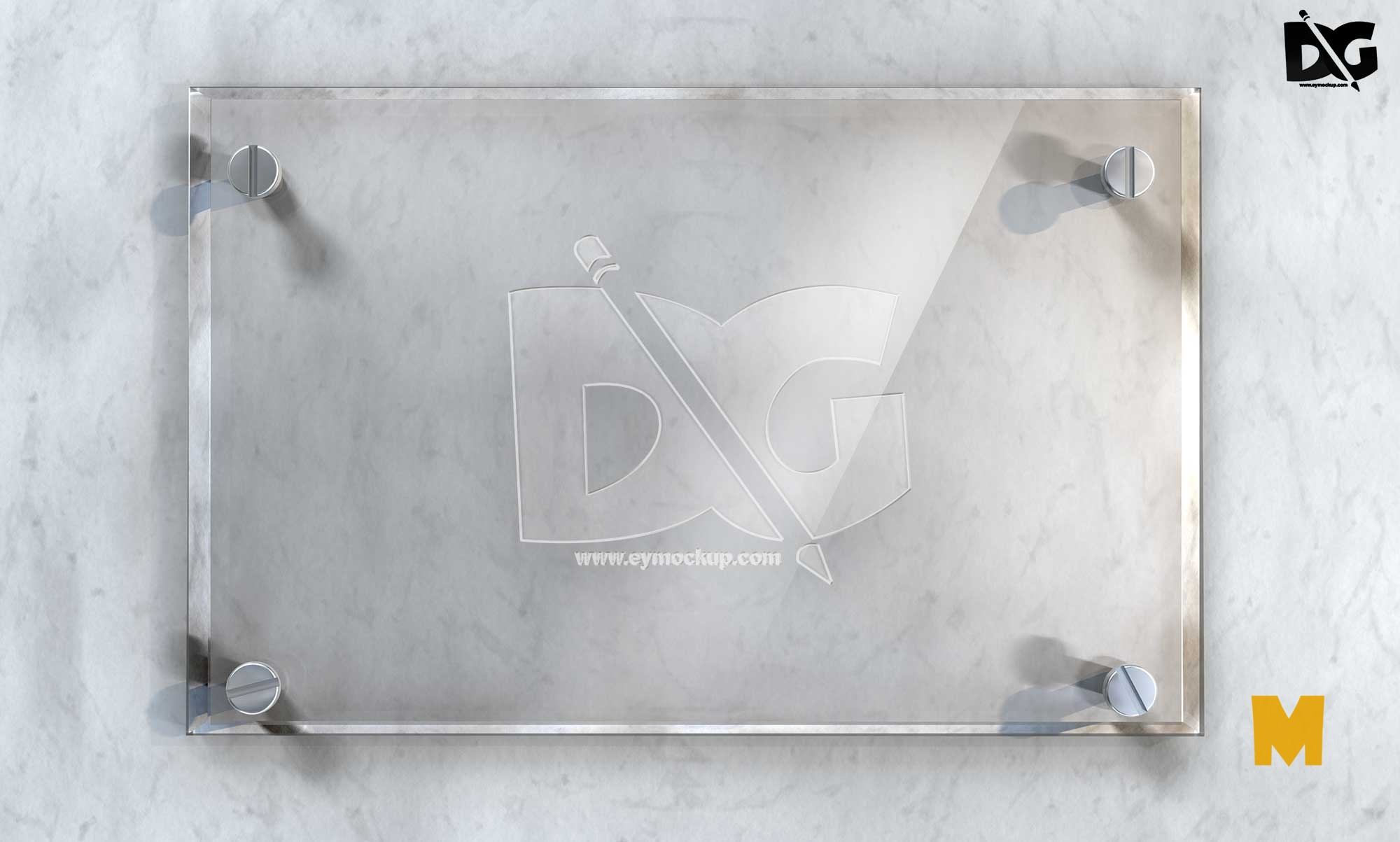 Glass Sign Mockup